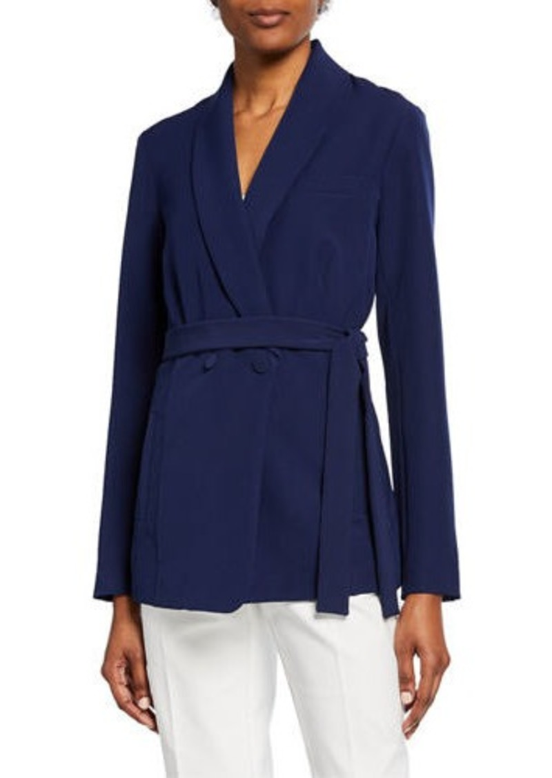 Laundry by Shelli Segal Shawl-Collar Double-Breasted Jacket w/ Pleated Sleeves