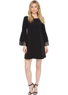 Laundry by Shelli Segal Shift Dress with Lace Sleeve & Hem Detail