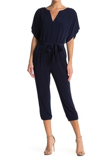 Laundry by Shelli Segal Short Sleeve Crop Jogger Jumpsuit