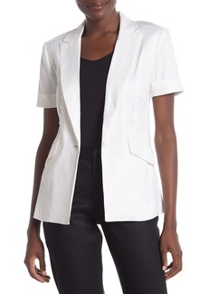 Laundry by Shelli Segal Short Sleeve Linen Blend Blazer