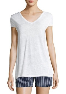 Short-Sleeve Tie-Back Top