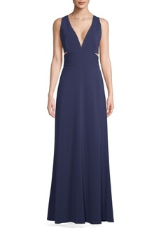 Laundry by Shelli Segal Sleeveless Cut-Out Gown