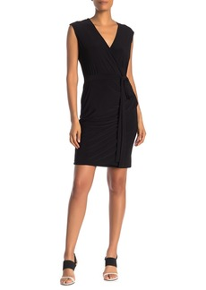 Laundry by Shelli Segal Sleeveless Faux Wrap Dress