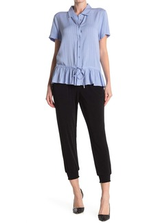 Laundry by Shelli Segal Smocked Pull-On Joggers