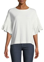 Laundry by Shelli Segal Smocked-Sleeve Tee