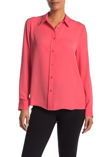 Laundry by Shelli Segal Solid Button Front Tunic Shirt