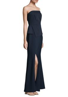 Strapless Floor-Length Gown