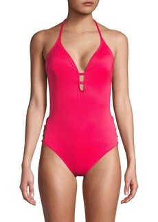 Laundry by Shelli Segal Strappy Side One-Piece Swimsuit