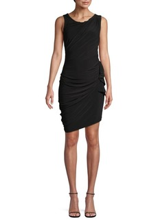 Laundry by Shelli Segal Stretch Ruched Mini Dress