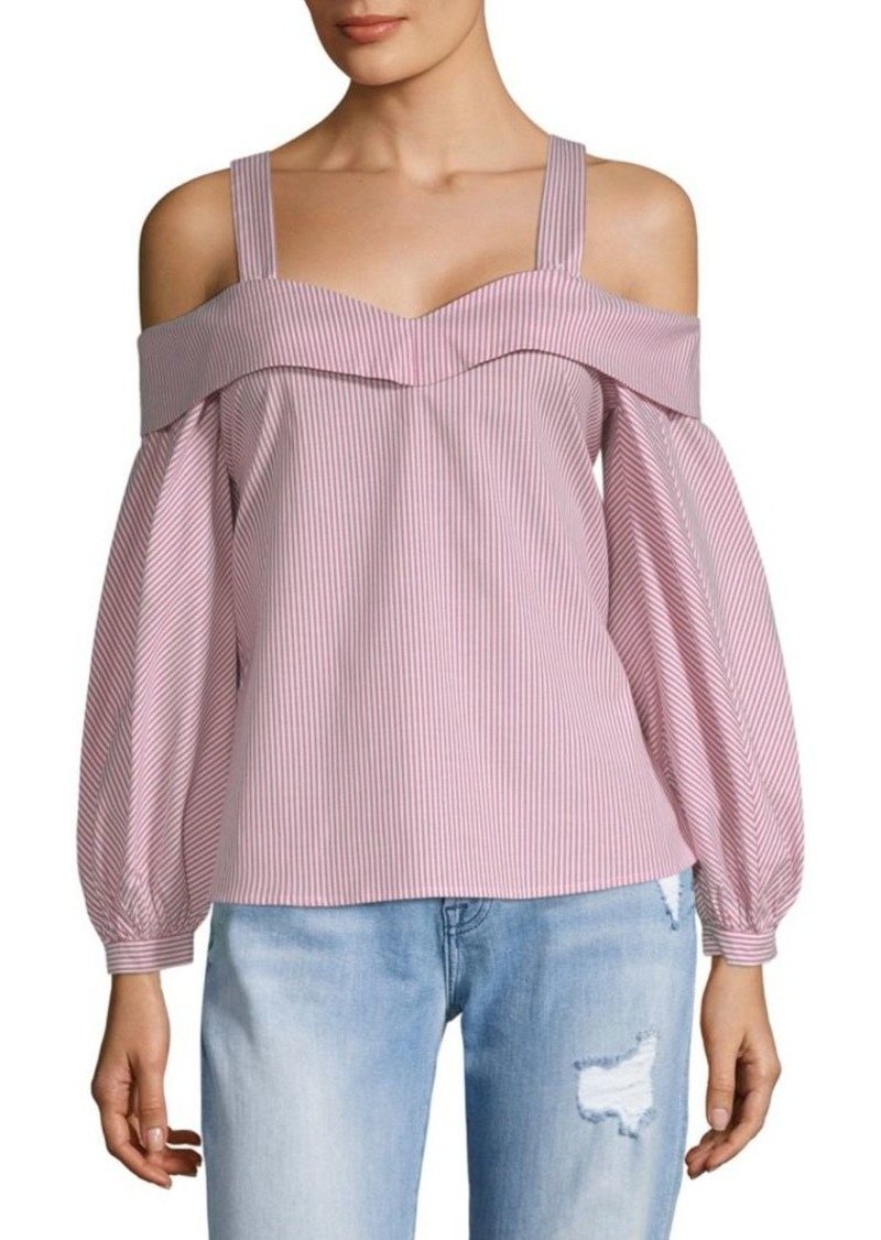 Laundry by Shelli Segal Striped Balloon-Sleeve Blouse