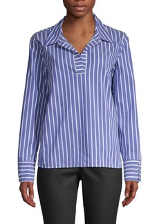 Laundry by Shelli Segal Striped Poplin Blouse