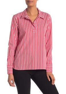 Laundry by Shelli Segal Striped Poplin Shirt