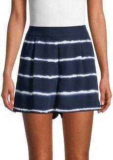 Laundry by Shelli Segal Striped Tie-Dye Shorts