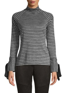 Laundry by Shelli Segal Striped Turtleneck Top