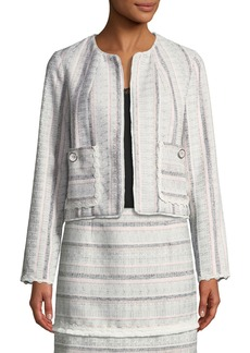 Laundry by Shelli Segal Striped Tweed Topper Jacket