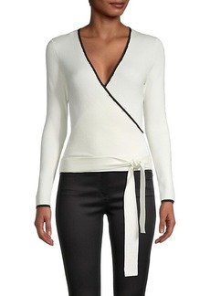 Laundry by Shelli Segal Surplice Knit Top