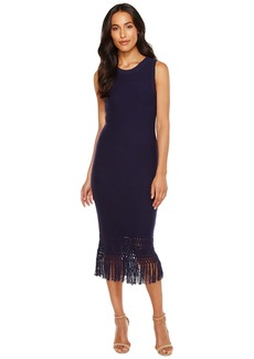 Laundry by Shelli Segal Sweater Dress with Fringe Detail