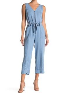 Laundry by Shelli Segal Tencel Front Zip Jumpsuit