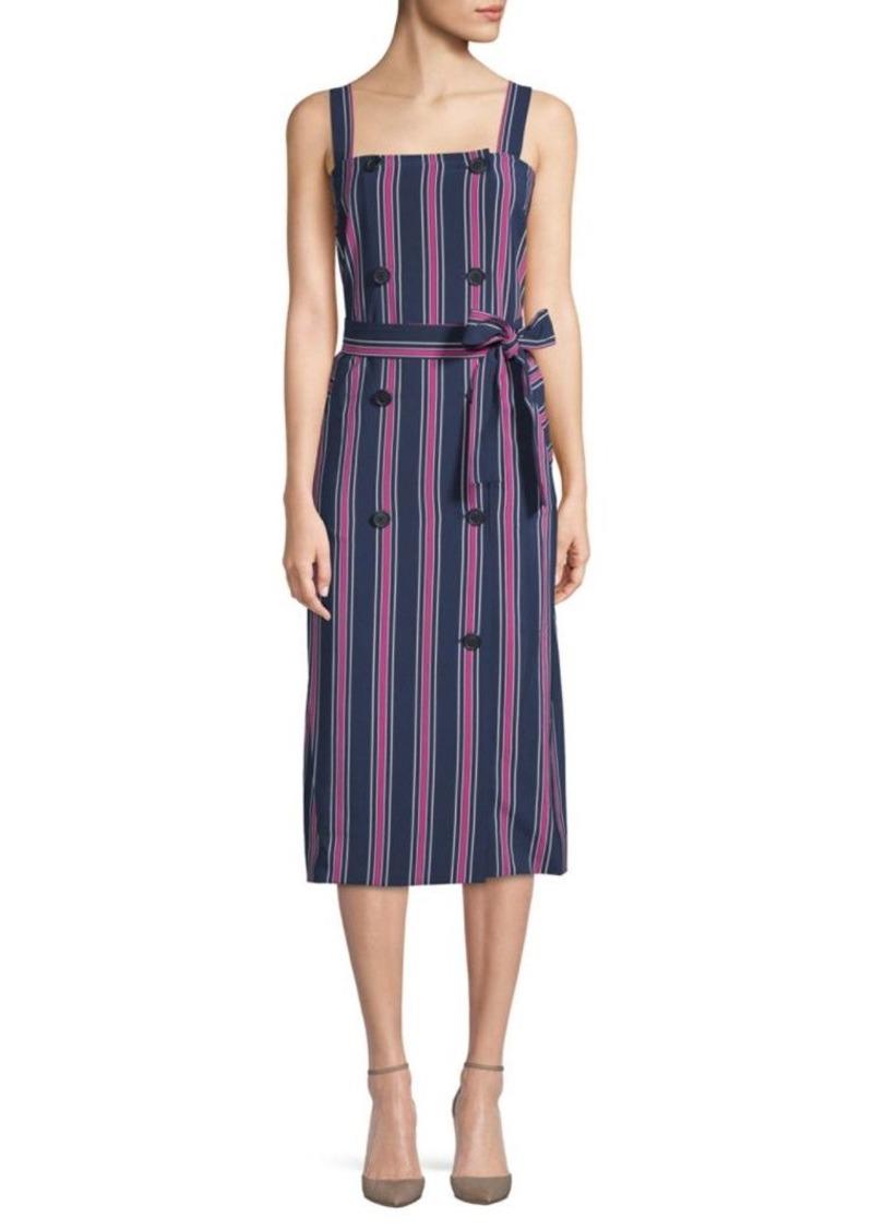 Laundry by Shelli Segal Tie Waist Stripe Dress