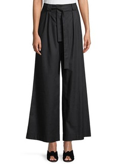 Laundry by Shelli Segal Tie-Waist Wide-Leg Pants