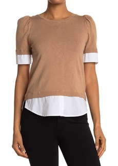 Laundry by Shelli Segal Twofer Puffed Sleeve Top