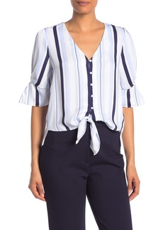 Laundry by Shelli Segal V-Neck Tie Blouse