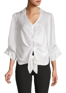 Laundry by Shelli Segal V-Neck Tie Top