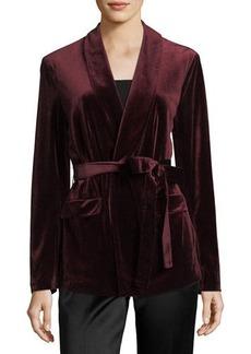 Velvet Jacket w/Belt