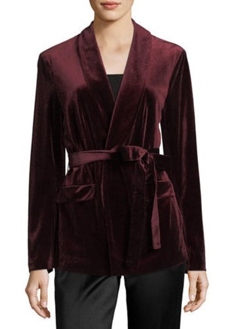 Laundry by Shelli Segal Velvet Jacket w/Belt
