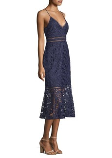 Laundry by Shelli Segal Venice Embroidered Lace Spaghetti Dress