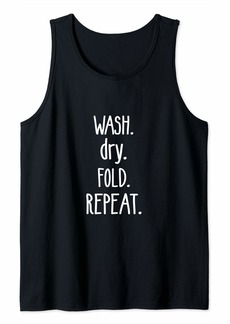 Laundry by Shelli Segal Wash Dry Fold Repeat Laundry Day Tank Top