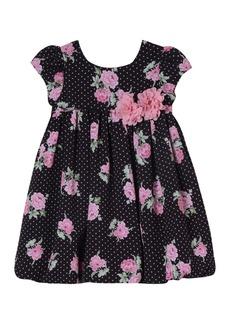 Laura Ashley Floral Print Dress (Toddler & Little Girls)