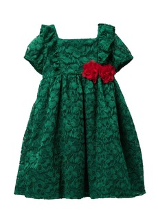 Laura Ashley Lace Ruffle Floral Dress (Toddler & Little Girls)