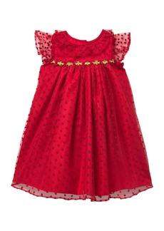 Laura Ashley Lace Ruffle Sleeve Float Dress (Toddler Girls)