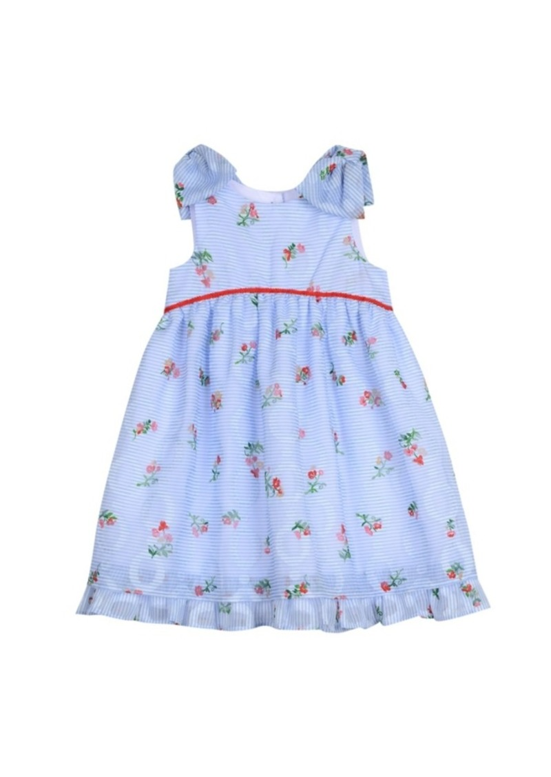 Laura Ashley London Girls Bow Sleeve Party Dress