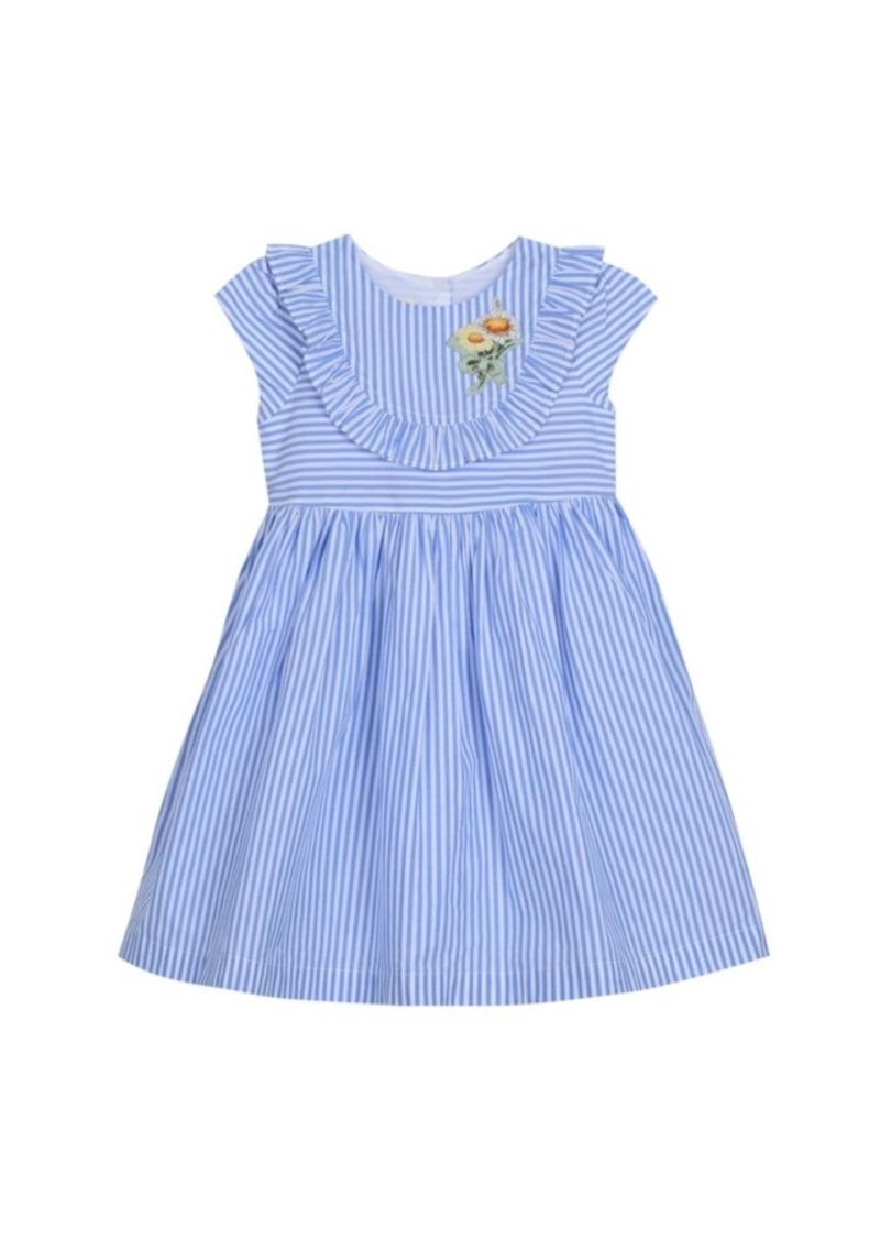 Laura Ashley Cap Sleeve Seersucker Dress