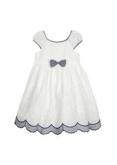 Laura Ashley Puff Sleeve Bow Dress