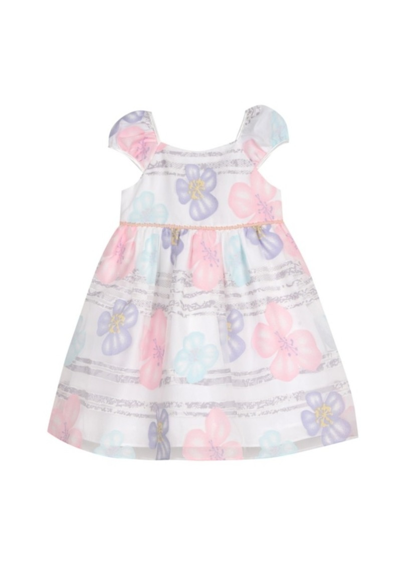 Laura Ashley London Girls Puff Sleeve Party Dress