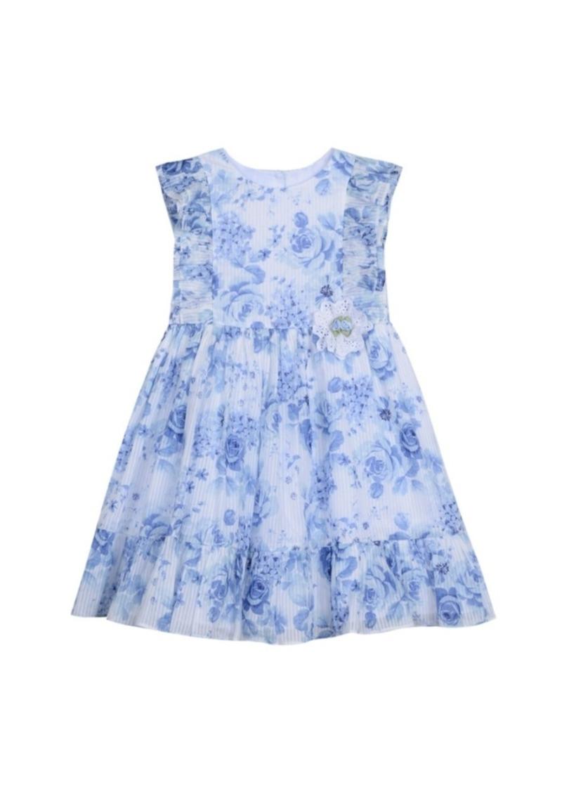 Laura Ashley Ruffle Sleeve Dress