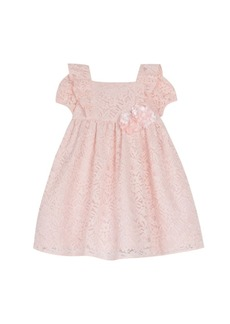 Laura Ashley Short Sleeve Allover Lace Dress