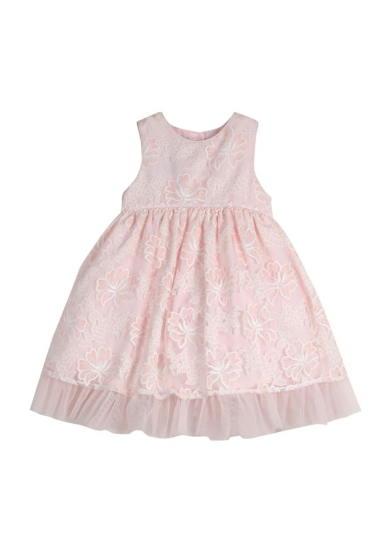 Laura Ashley London Girls Sleeveless Embroidered Party Dress
