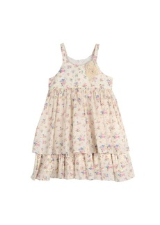 Laura Ashley London Girls Sleeveless Floral Print Dress