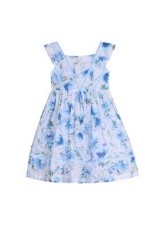 Laura Ashley Sleeveless Ruffle Front Party Dress