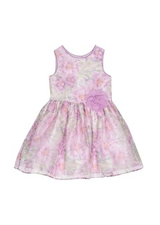 Laura Ashley London Girls Violet Floral Print Dress