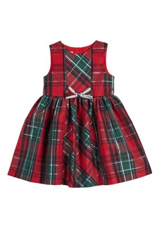 Laura Ashley Little and Toddler Girls London Sleeveless Plaid Holiday Party Dress