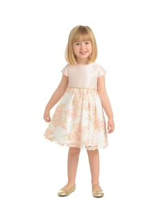 Laura Ashley Little Girl Cap Sleeve Embroidered Party Dress