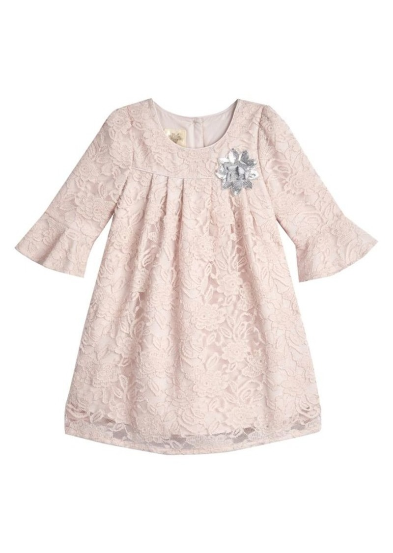 Laura Ashley Little Girl's Bell-Sleeve Lace Dress