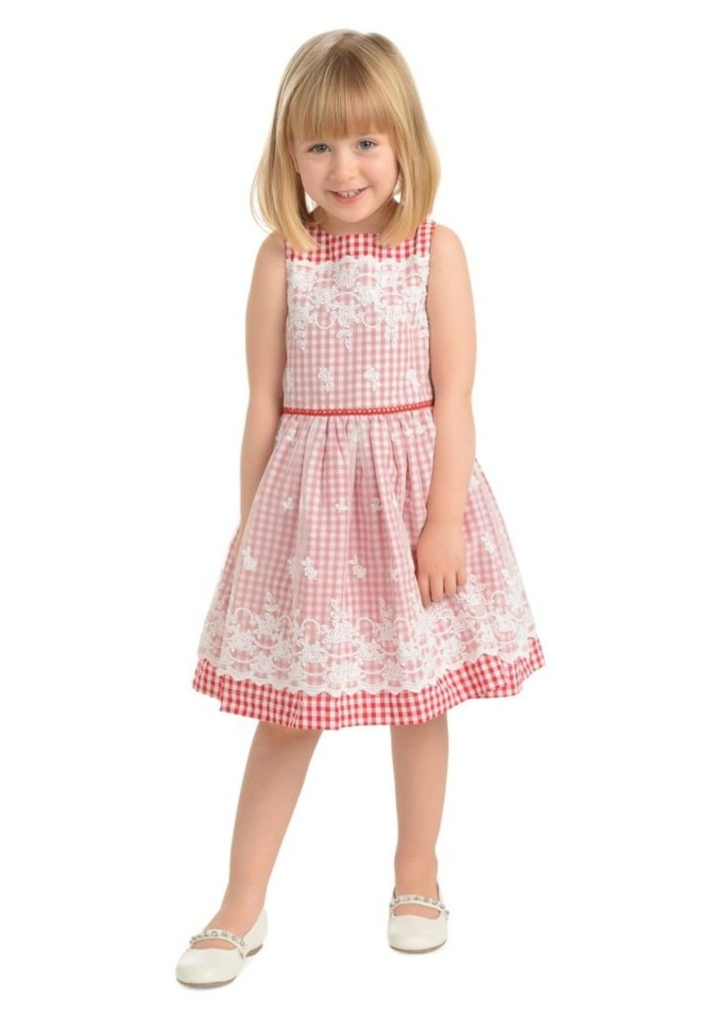 Laura Ashley Little Girl's Checkered Cotton Dress