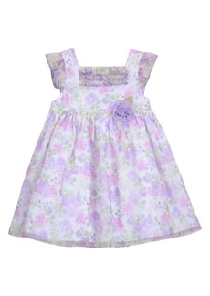 Laura Ashley Little Girl's Chiffon Floral-Print Ruffled Dress