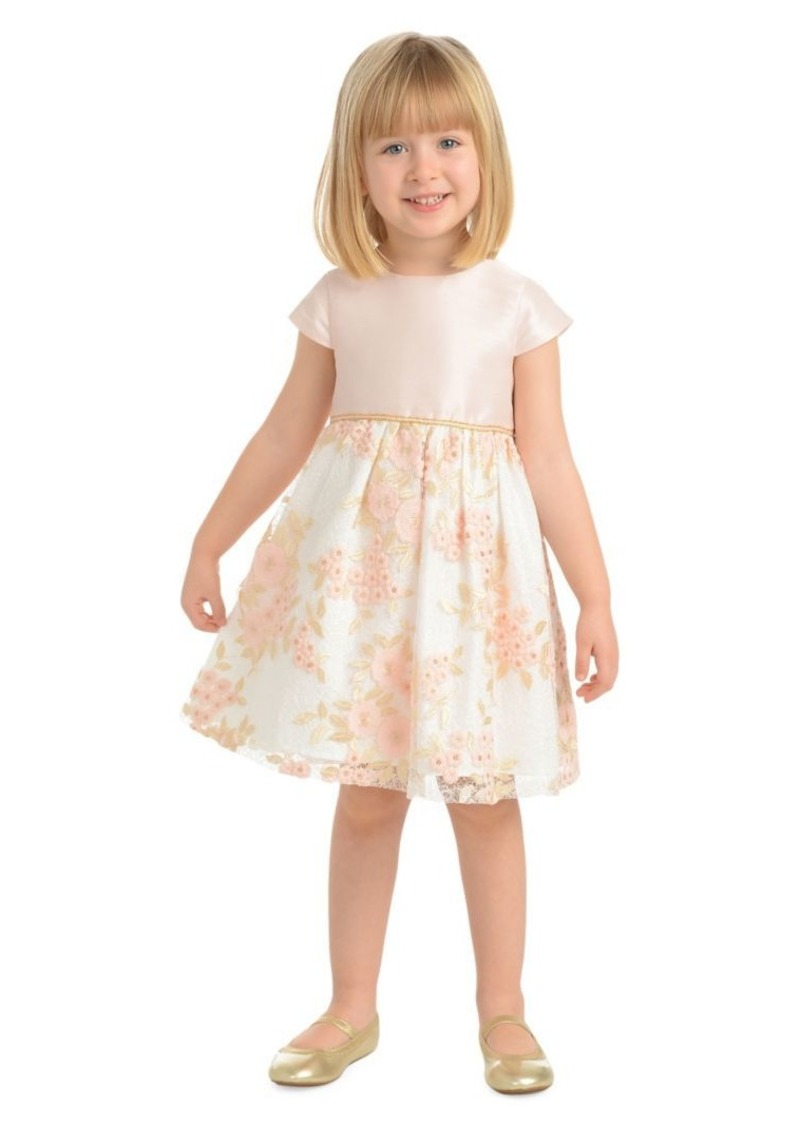 Laura Ashley Little Girl's Embroidered Floral Dress